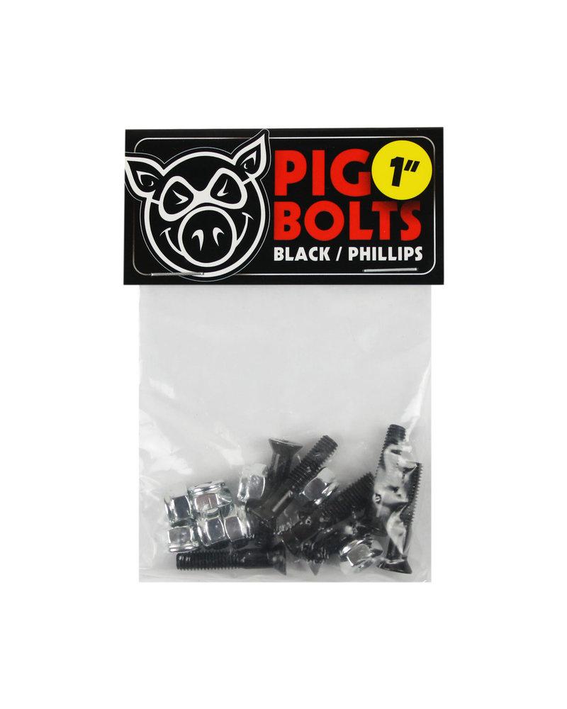 "Pig Pig 1"" Black Bolts Phillips Head"