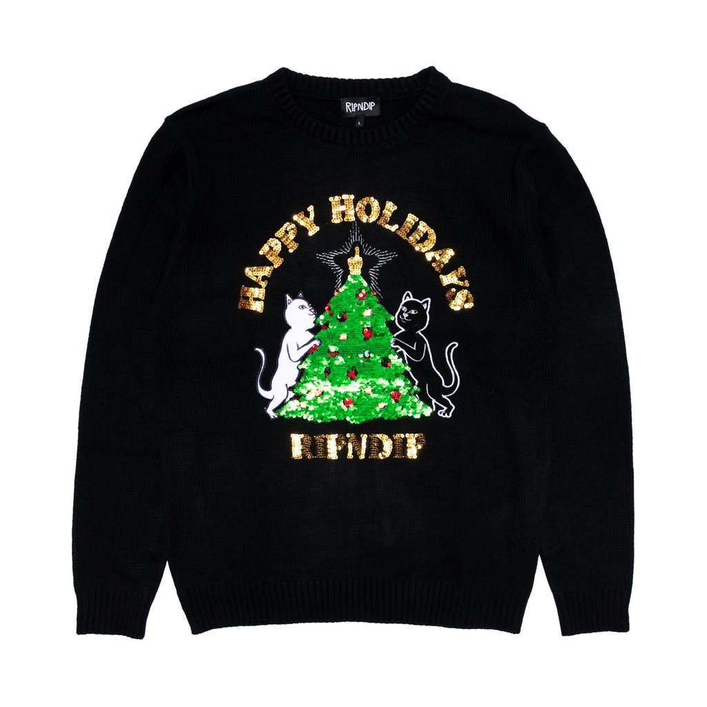 RIPNDIP RIPNDIP Litmas Tree Knitted Sweater