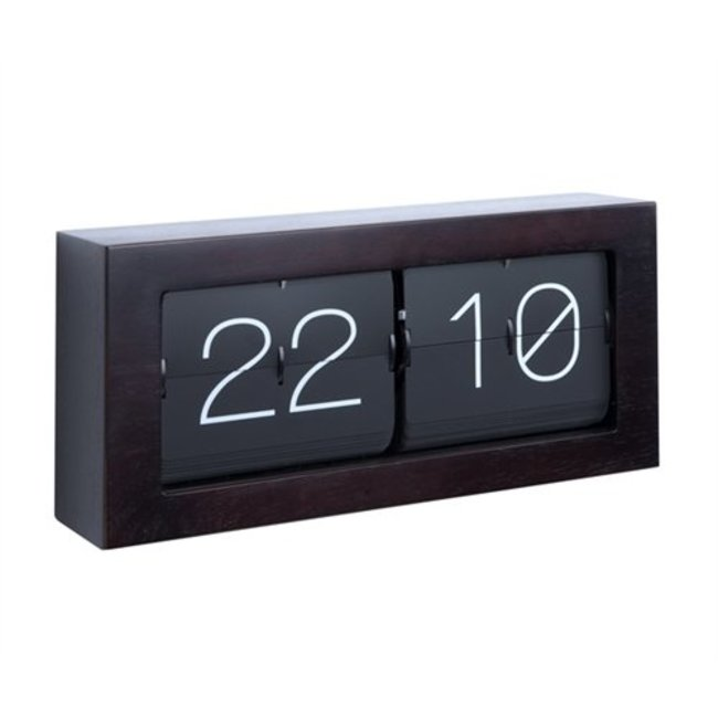 Karlsson Flip Clock Boxed XL - dark wood