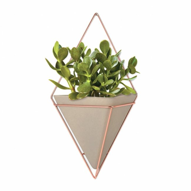 Umbra Wall Vessel 'Trigg' XL (copper/concrete)
