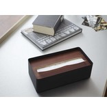 Yamazaki  Boite à Kleenex 'Rin' (brun/noir)
