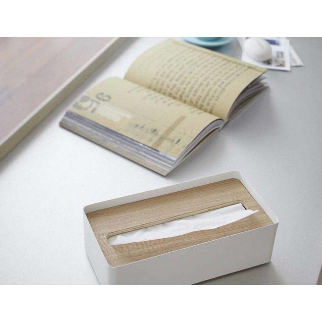 Yamazaki  Tissue Case Rin - natural/white