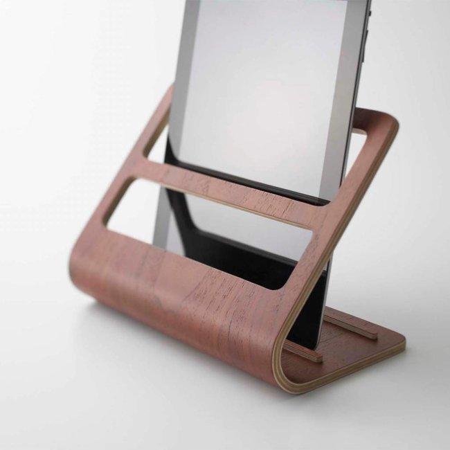 Tablet & Remote Rack 'Rin' (brown)