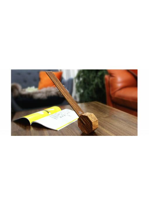 Bureaulamp 'Octagon One' (walnut)