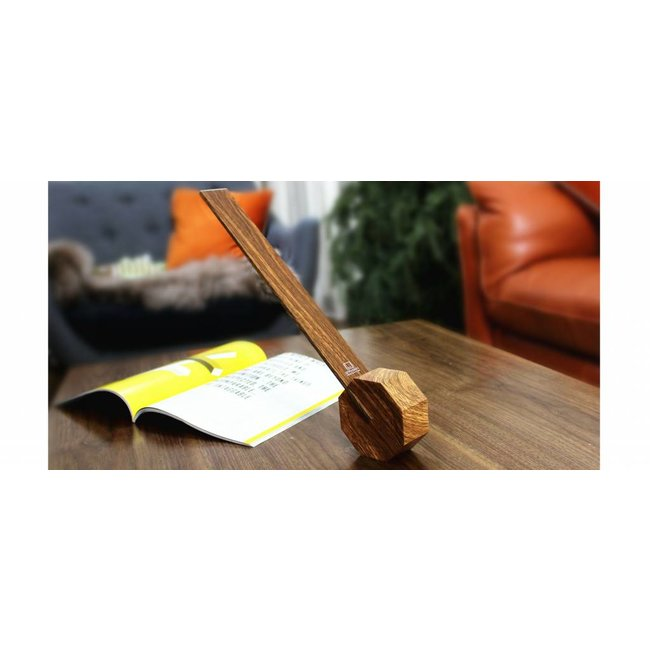 Gingko Bureaulamp 'Octagon One' (walnut)