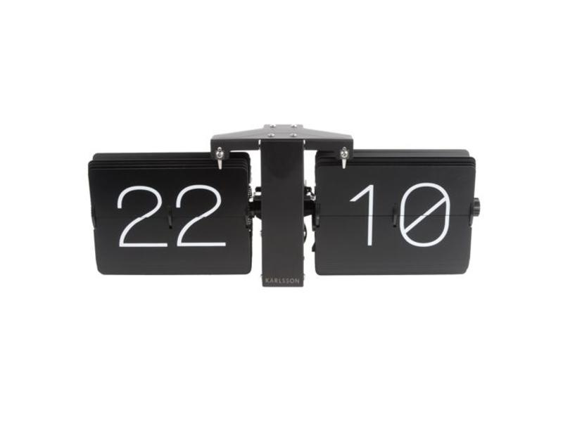 Karlsson Flip Clock 'No Case' (zwart/mat zwart)