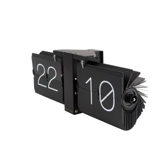 Karlsson Flip Clock 'No Case' (black/matt black)