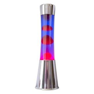 Fisura Lava Lamp (chroom/rood/paars)