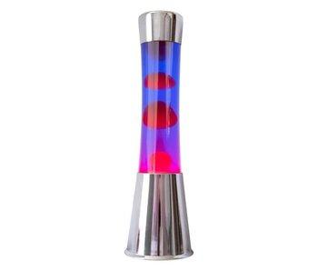 Lampe à Lave (chromé/rouge/violet)