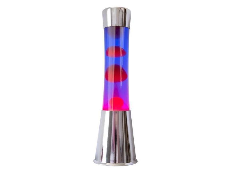 Fisura Lava Lamp (chrome/red/purple)