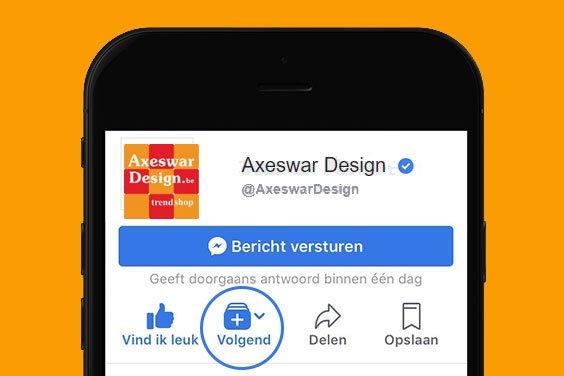 Axeswar Design blijven zien op Facebook? Dan moet je dit even doen!