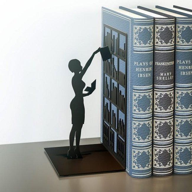 Boekensteun 'The Library'