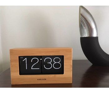 Horloge de Table 'Flip Clock Boxed Bamboo'