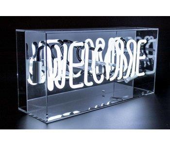 Plexi Neon Sign Box 'Welcome'