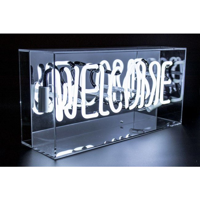 locomocean Plexi Neon Sign Box 'Welcome'