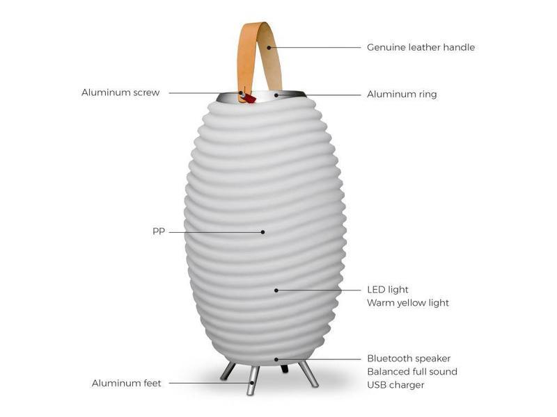 Kooduu Bluetooth Speaker + Lamp + Wine Cooler 'Synergie 65 Stereo ' (large) - 2019 edition