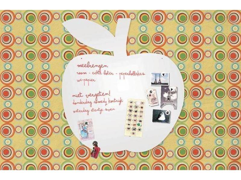 Wonderwall Magneet- én Schrijfbord 'Appel'