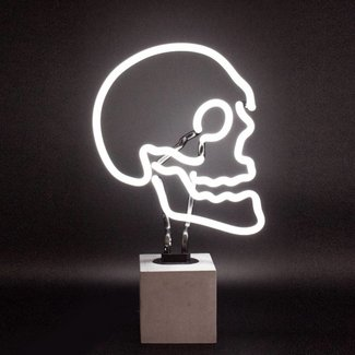 locomocean Neon Lamp 'Skull' (concrete base, large)