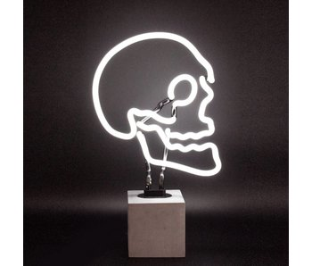 Neon Lamp 'Skull' (concrete base, large)
