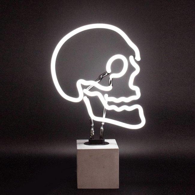 Neon Lamp 'Doodshoofd' (betonnen voet, L)