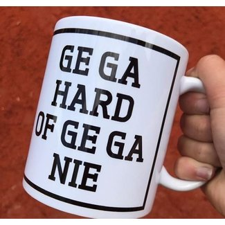 Urban Merch Tasse à Café  'Ge Ga Hard Of Ge Ga Nie'