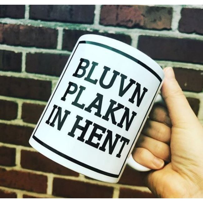 Urban Merch Beker 'Bluvn Plakn In Hent'