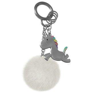 Metalmorphose Keychain 'Unicorn with Pompom'