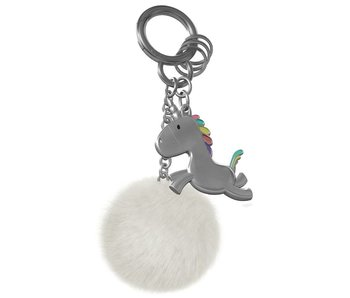 Keychain 'Unicorn with Pompom'