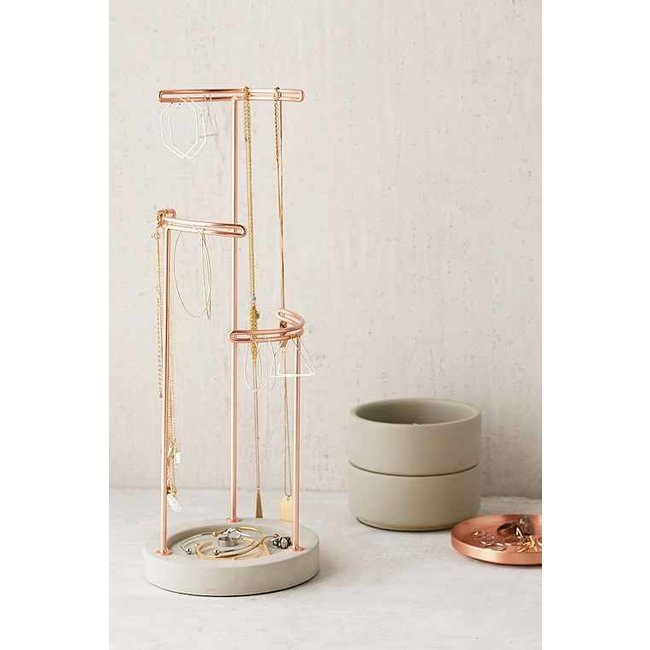 Umbra Jewelry Holder 'Tesora' (concrete - copper)