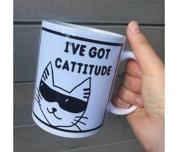 Tasse 'I've Got Cattitude'