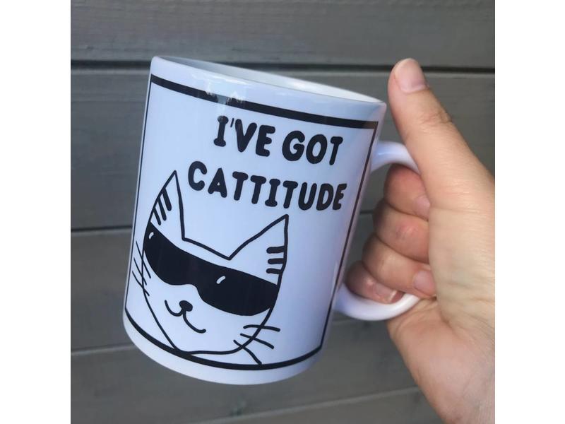 Urban Merch Beker 'I've Got Cattitude'