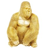 Karé Design Deco Beeld 'Gouden Gorilla Aap' (extra large)