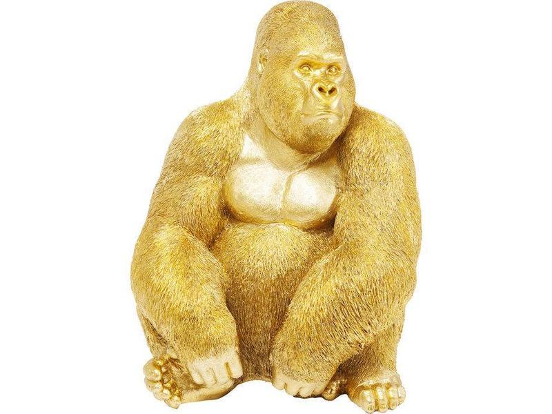 Karé Design Deco Statue 'Golden Gorilla Monkey' (XL)
