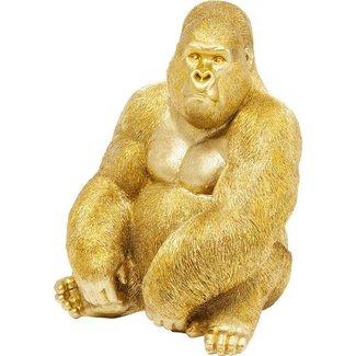 Karé Design Statue Déco 'Singe Gorille Doré' (extra large)