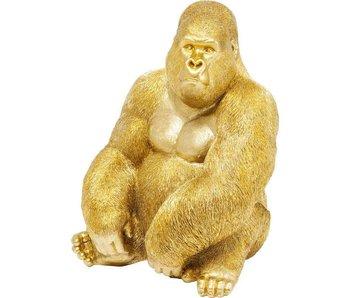 Statue Déco 'Singe Gorille Doré' (extra large)