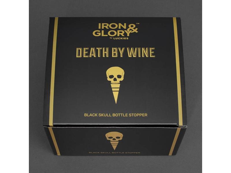 Luckies Wine Stopper 'Skull'