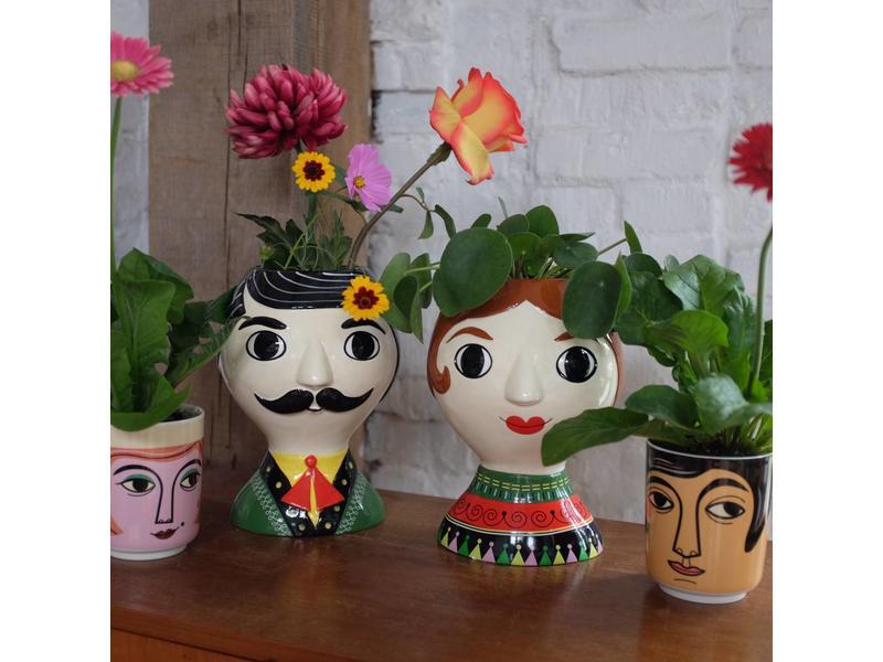 Kitsch Kitchen Vaas 'Señor'