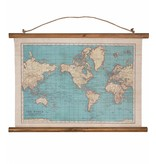 World Map Canvas 'Vintage'
