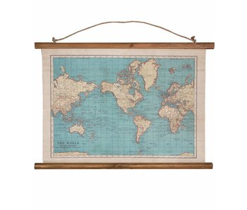Wereldkaart Canvas 'Vintage World Map'