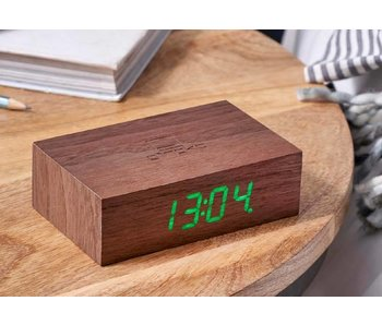 Flip Click Clock 'Walnut'