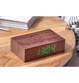 Gingko Flip Click Clock 'Walnut'