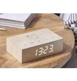 Gingko Flip Click Clock 'White Maple'