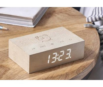 Flip Click Clock 'White Maple'