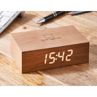 Gingko Flip Click Clock 'Kerselaar'