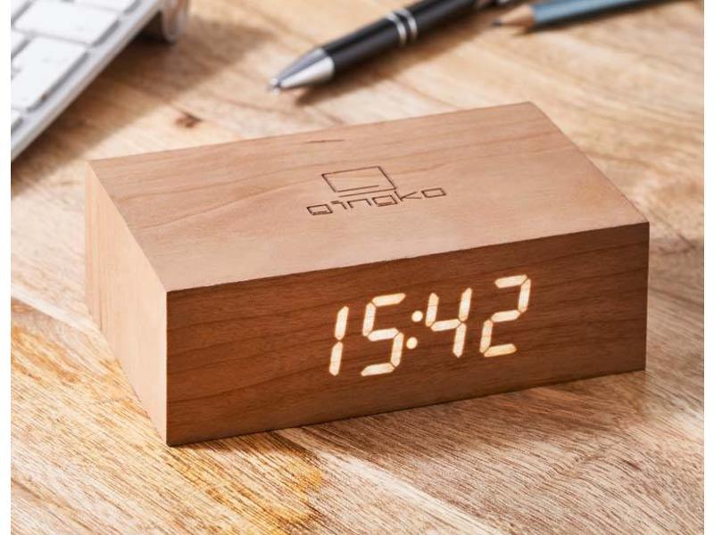 Gingko Flip Click Clock 'Cherry'