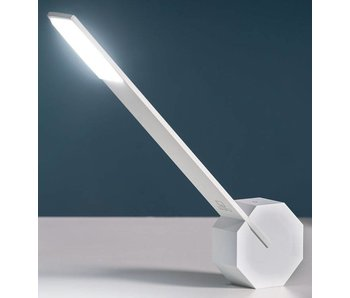 Bureaulamp 'Octagon One' (wit)