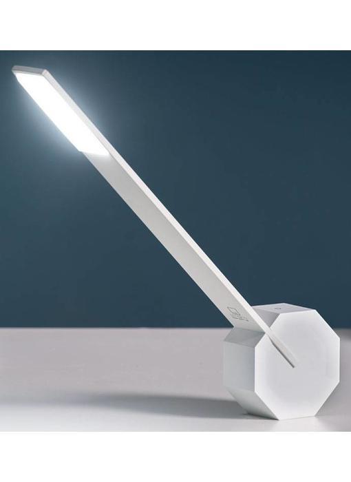 Bureaulamp 'Octagon One' (wit)