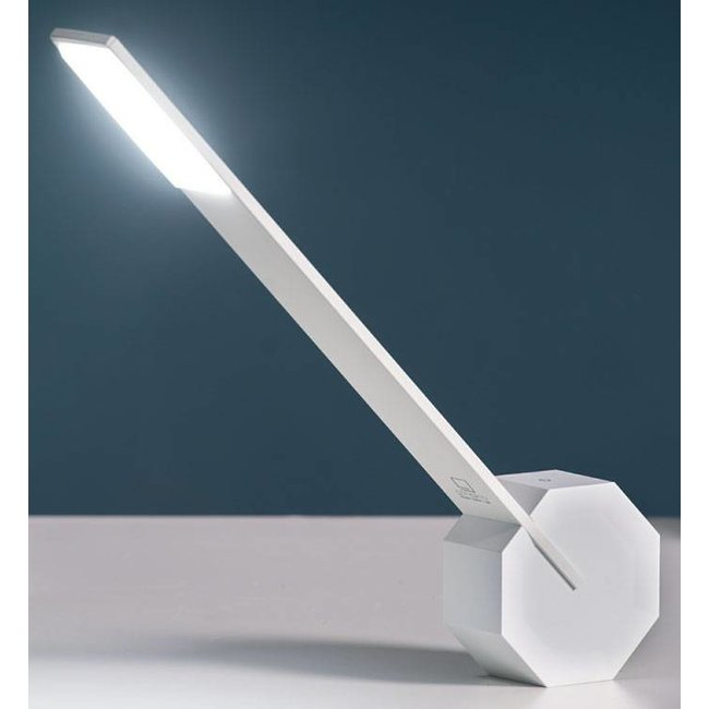 Gingko Bureaulamp 'Octagon One' (wit)