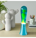 Balvi Lava Lamp 'Blue with Green Lava'