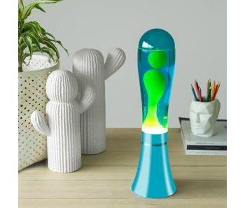 Lava Lamp 'Blauw met Groene Lava'